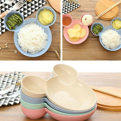 Kids Bowl Sub Salad Plate Pure Natural Plastic Tableware Dinnerware Set Cartoon~