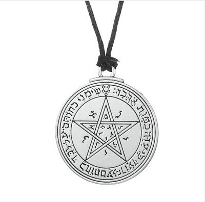 Pewter Pentacle Venus Talisman Seal Solomon Kabbalah Hermetic Pendant Necklace