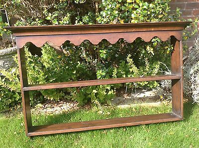 Antique oak plate rack, believed C18th, warm oak colour with beautiful patina
