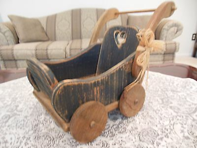 """Owl Creek Merchantile""  Wooden Toy Stroller/Carriage"