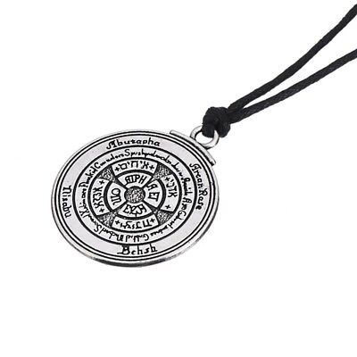 Honor And Riches Talisman Pewter Seal Solomon Kabbalah Hermetic Pendant Necklace
