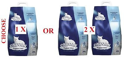20L Bag Or 2 X 20L Bags Catsan Hygiene Cat Litter Absorbent Odour Prevention