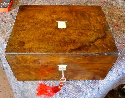 """REGENCY"". Burr Walnut.Writing Slope for Restoration. & Contents. C1790 - 1830."