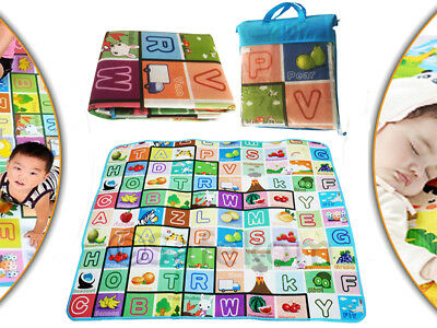 Alphabet 2 Side Baby Play Mat Soft Foam Carpet Toddler Learning Number 200 X 180
