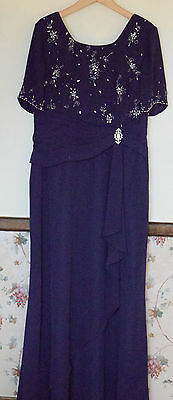New mother of the bride size 16 dress long evening formal special occasion