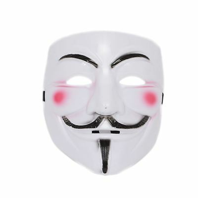 Anonymous V For Vendetta Face Mask Guy Fawkes Halloween Fancy Dress Party Uk