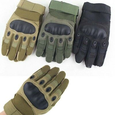Breath Touch Screen Military Tactical Outdoor Hard Knuckle Full Finger Gloves