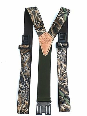1 1/2 inch Advantage Max 5 Camo Perry Suspenders - Olive Drab Tail