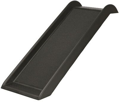 Pet Safety Ramp 39.25 in. x 14.75 in. Non-Slip Side Rails Protect Joints Black