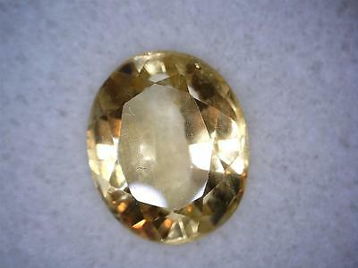 Natural Oval cut light to clear Yellow Citrine 2.33ct