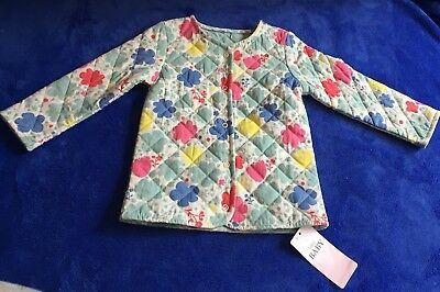 Baby Girl Marks And Spencer Quilted Floral Jacket Coat Age 9-12 Months BNWT