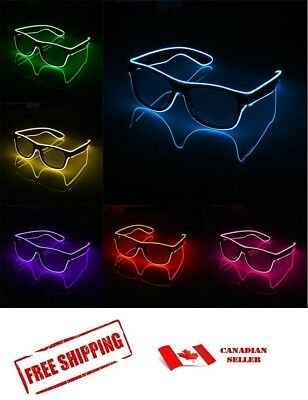 LED EL Wire Glasses Light Up Glow Glasses Shades Nightclub Party Halloween