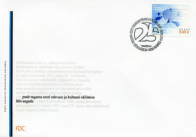 Estonia 2017 FDC Constitution 25 Years 1v Set Cover Politics Independence Stamps