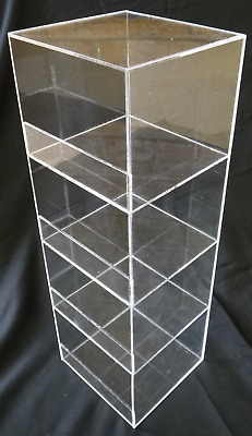 "Acrylic Convenience Store Counter Top Display Case 6""x6""x19"" Display Box Clear"