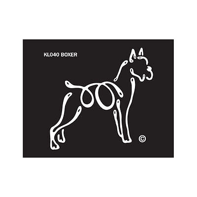 Boxer Cropped K-Lines Dog Car Window Tattoo Decal Sticker