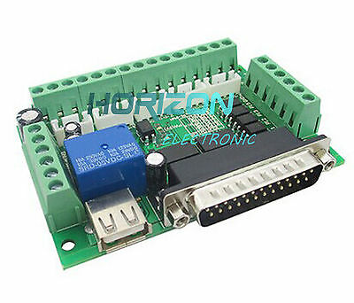 CNC 5axis Breakout Board with optical coupler für Stepper Motor Driver MACH3 new