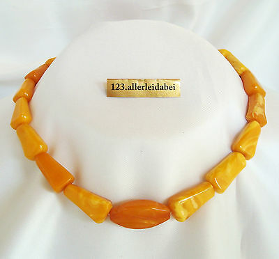 Wow schöne Butterscotch Bernsteinkette color real amber Bernstein Kette / AS 155