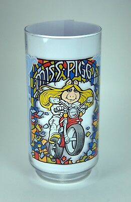 Vintage 1981 The Great Muppet Caper Movie McDonald's Glass Miss Piggy Motorcycle