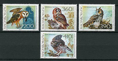 Hungary 2017 MNH Fauna Owls 4v Set Barn Tawny Little Owl Birds Stamps