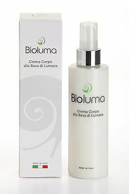 Bioluma Bava di Lumaca Crema Corpo 200ml 100% Made in Italy