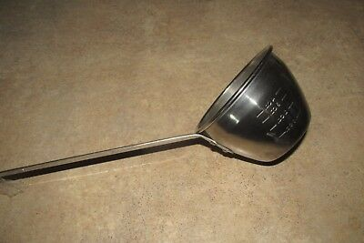 2 -vet warbex dipper pour on stainless steel ladle cup spoon cattle vintage new