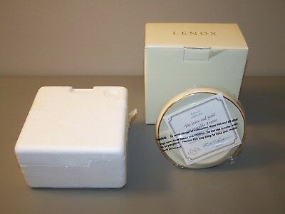 Lenox Ivory & Gold Trim Round Memorable Picture Frame~w/COA~New in Box
