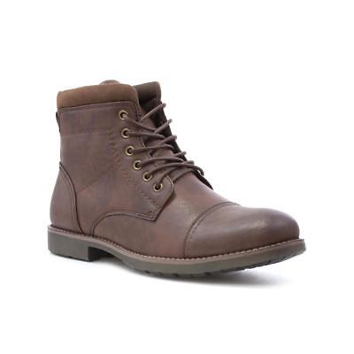 Beckett Mens Brown Lace Up Ankle Boot - Sizes 6,7,8,9,10,11,12,13