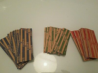 45 Coin Wrappers (15 of each: 15 Penny, 15 Nickel, 15 Dime)