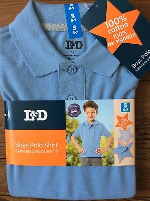 Boys  New Light Blue Polo Size 6-7