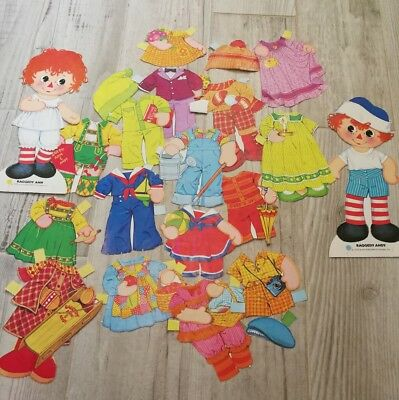 Raggedy Ann and Andy 1978 Vintage Paper Doll Collection Paper Toys