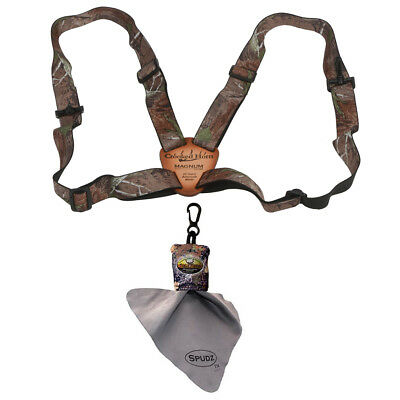 "Crooked Horn Realtree APHD Magnum 1.25"" Bino Strap + Spudz Lens Cleaning Cloth"