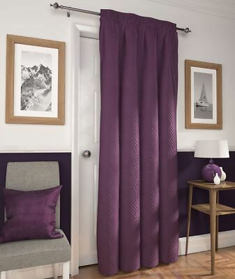 """Quilted Door Curtain Embossed Thermal Heat Saving Draught Reducing 66"""" x 84"""""""