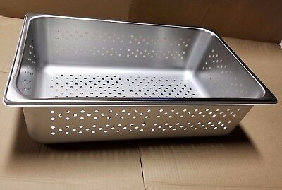 NEW Box of 6 Polar Ware P20126 300 Series Stainless Steel Perforated Pans. USA