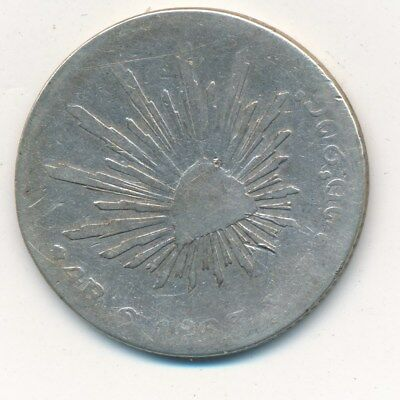1863 Go Y.F. MEXICO SILVER 4 REALES-BEAUTIFUL CIRCULATED COIN! SHIPS FREE!