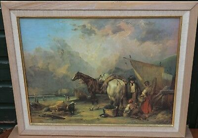 Fab Looking Large Framed Print Of Horses And People