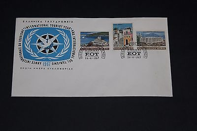 Greece 1967 Tourist Year  Illustrated First Day Cover