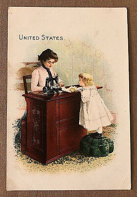Victorian SINGER SEWING MACHINES United States Advertising TRADE CARD