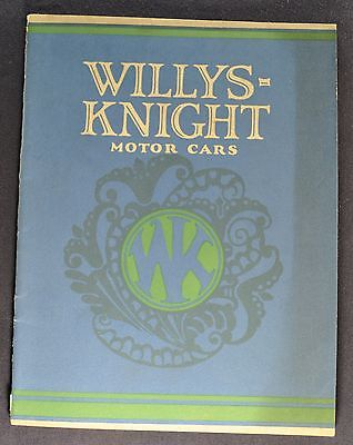 1924 Willys Knight Four Catalog Sales Brochure Excellent Original 24