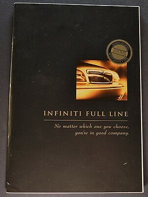 1996 Infiniti Catalog Sales Brochure Q45 J30 G20 Excellent Original 96