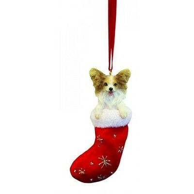 Papillon Santa's Little Pals Dog Christmas Ornament