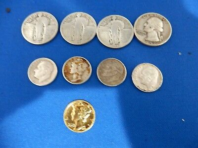 $1.50 Face Value 90% U.s. Silver Coins Bullion Standing Liberty