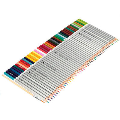 48 Colors Water Soluble Drawing Sketching Coloring Pencils + Paint Brush