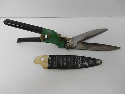 Vtg Garden Grass Shears Clippers Forged Steel ~ Wallace Model 400G W/case