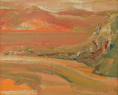 Merrill Peck Painting Island Sunset Active Pass BC Landscape Canadian Listed