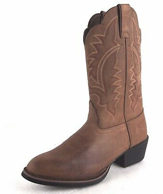 Tony Lama Women's BB2023L Brown Leather Cowgirl Heritage Western Boots