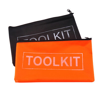 Oxford Cloth Tools Set Bag Zipper Storage Pouch Waterproof New Black Orange 1PC