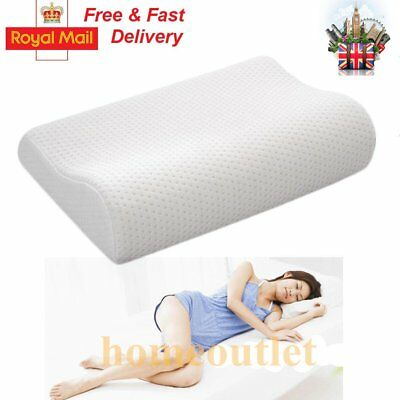 CONTOUR MEMORY FOAM PILLOW ORTHOPAEDIC FIRM HEAD NECK BACK SUPPORT With COVER