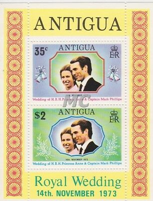 MC Antigua 1973 Royal Wedding sheet  MNH**