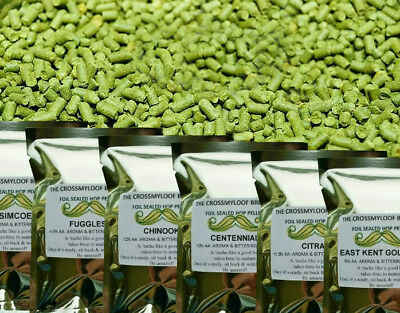 15-25g Home Brew Hops in a tea bag. 70 TYPES. eg Citra Fuggles Saaz Cascade etc