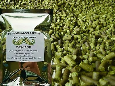 25g - 450g Cascade Hop Pellets (2017). Fresh 5.1% or 8.1% AA for Home Brew.